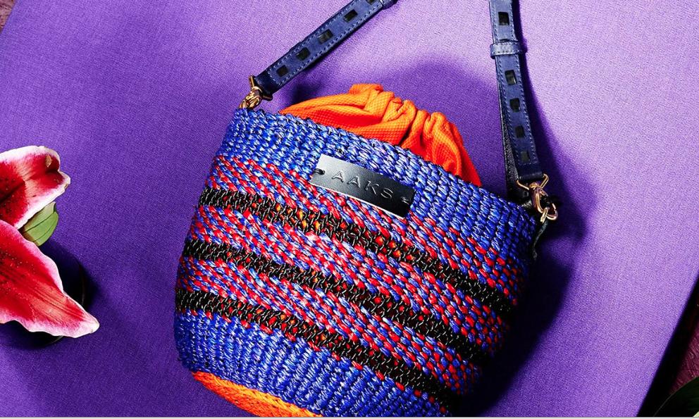 Akosua Afriyie-Kumi isa Ghanaian handbag designer turning ancient raffia hand-weaving techniques into luxury must-have accessories