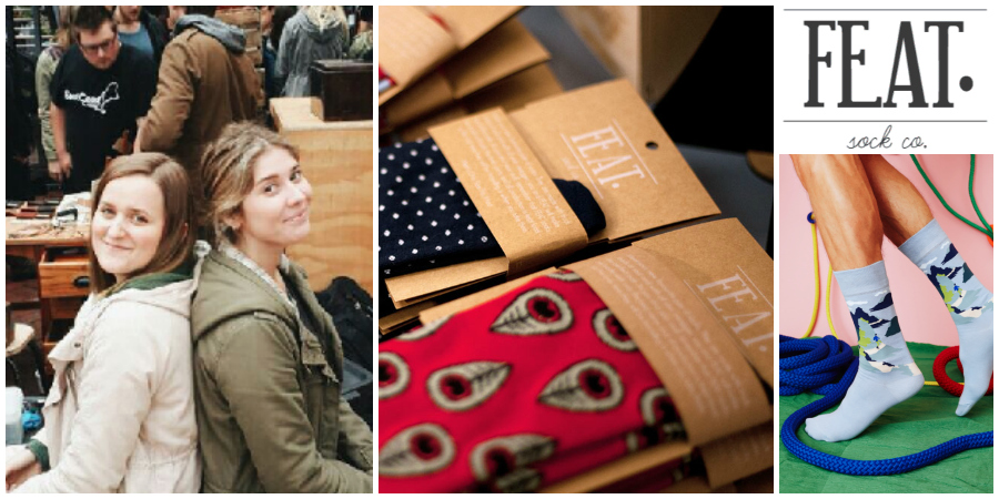 Alison Stewart and Chelsey Wilson , founders of   FEAT. sock co , Cape Town