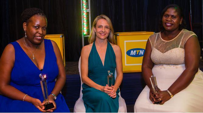 L-R: Kembambazi Sabiiti, Lindsay HandlerandBarbara Ofwono