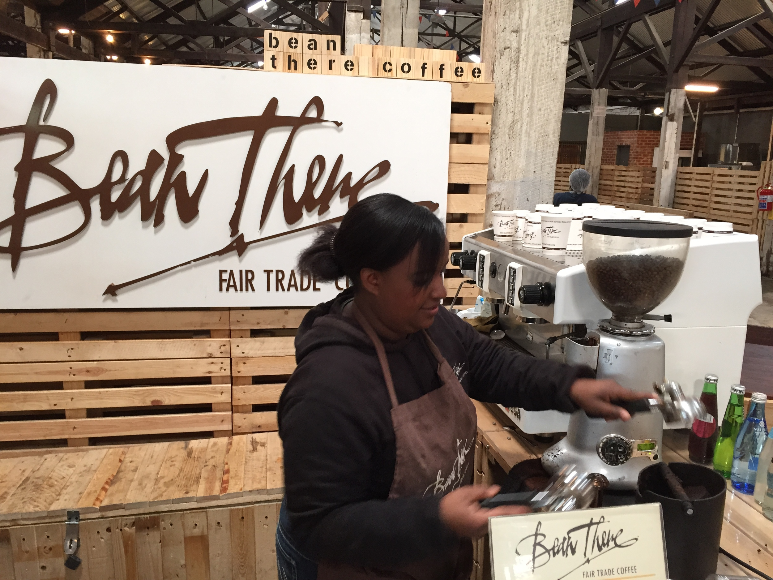 Ask Memory ( the always chatty barista) to fix you some of the finest  caffeine in town by   Bean There Fair Trade Coffee