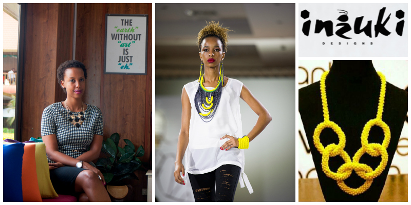 Teta Isibo , founder of Inzuki Designs (Rwanda) is atrend-setterwho creates jewellery pieces that are integral to her seasonal accessory collections.  Click to learn more .