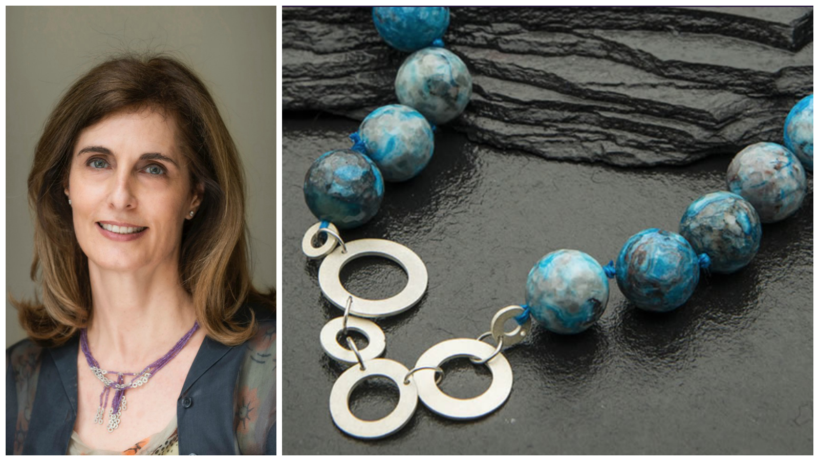Janet Pulford , founder of Gemboree, a South African jewellery designer inspired by the natural precious and semi-precious stones of her country to create unique, relaxed pieces reflecting the colours of the changing seasons. Click to learn more.