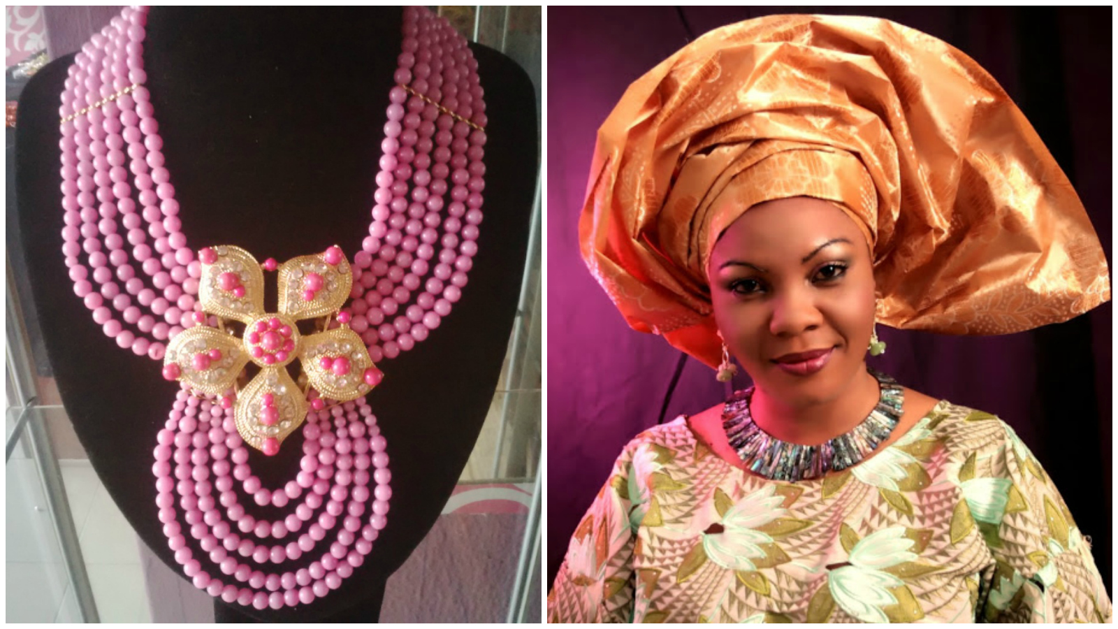 Abimbola Baolgun founder of Nigeria's Bimbeads Conceptis elevating the art of beading and creating the most spectacular pieces inspired by nature. Click to learn more.