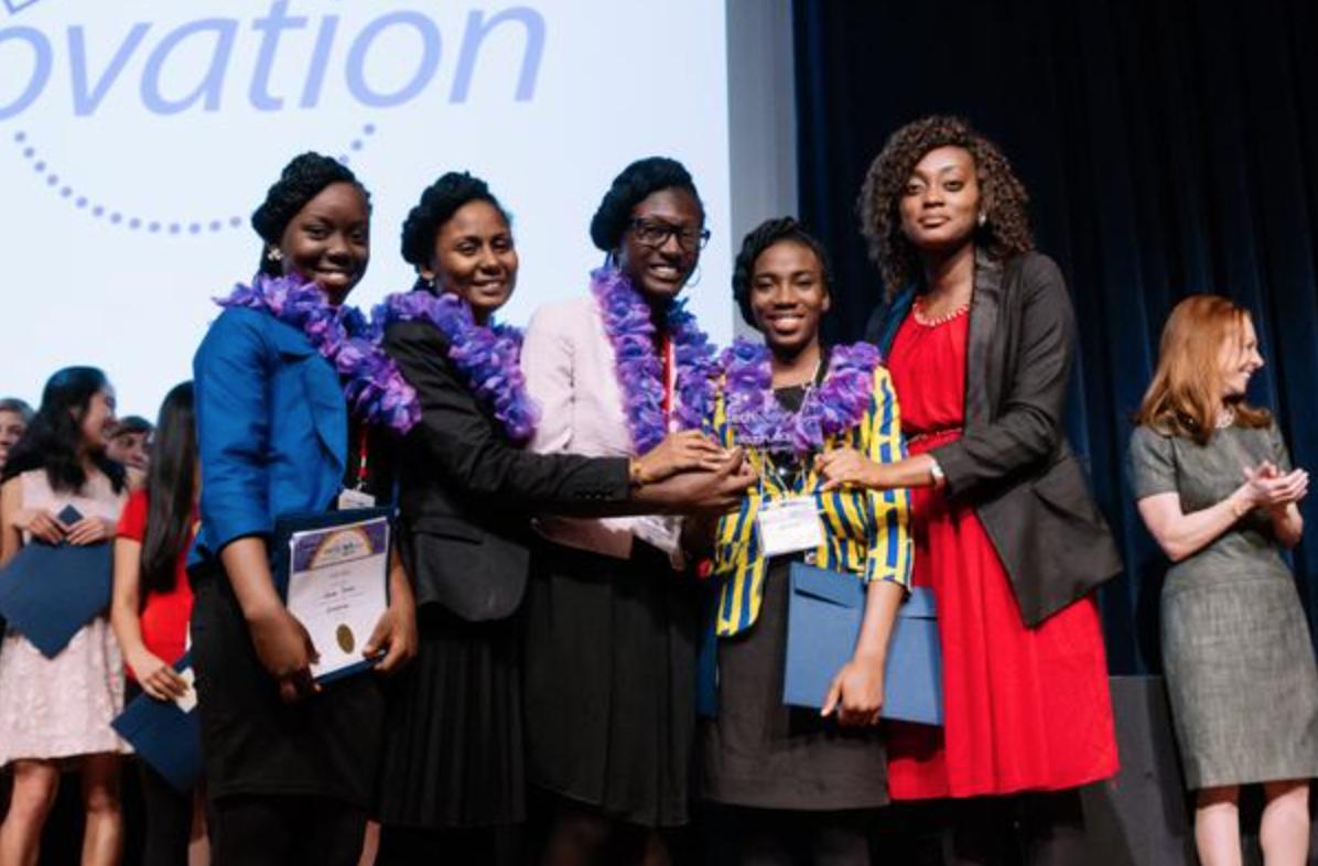 Team Charis   from Nigeria:Praise David-Oku, Sonam Kumar, Nmesoma Ogbonna, and Grace Akpoiroro