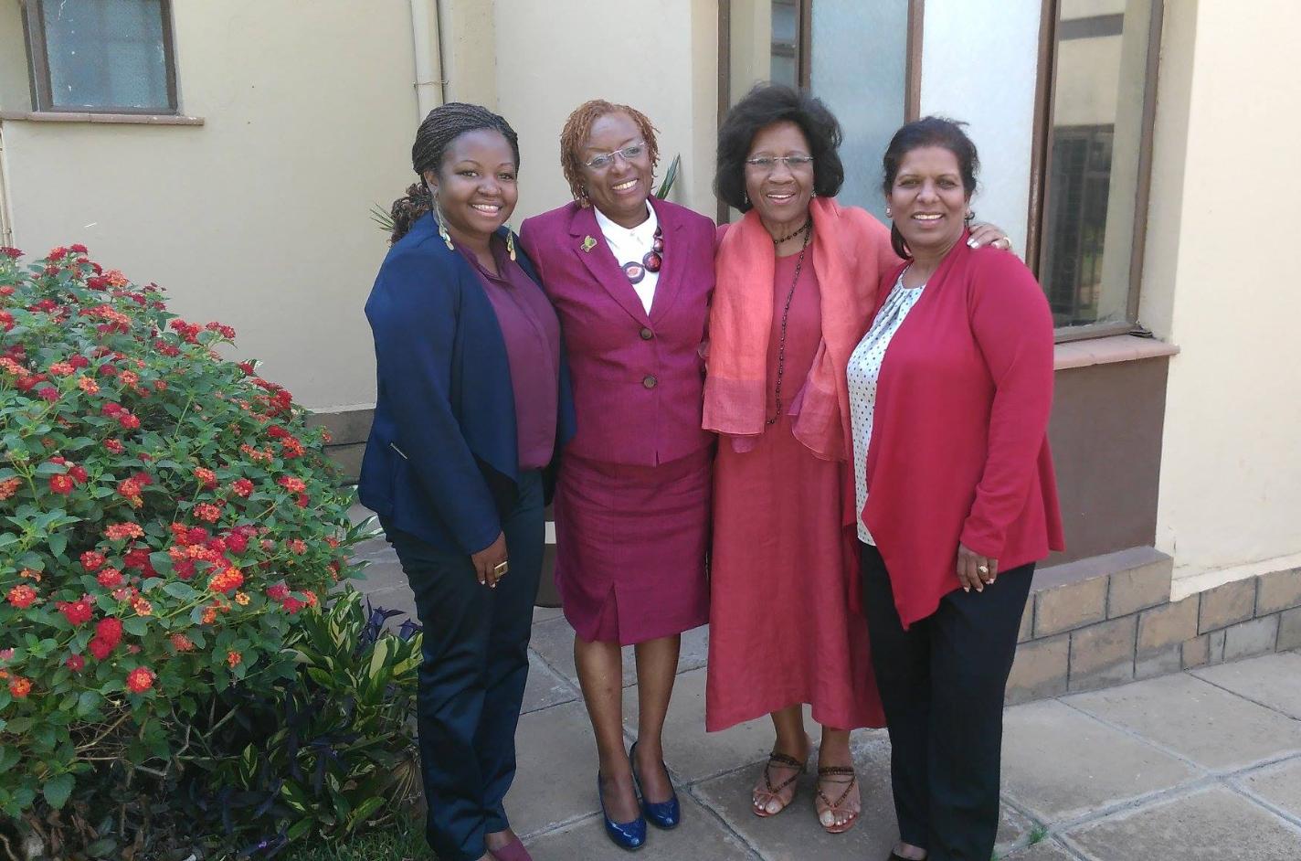 Dr. Jennifer Riria (second from left)CEO of Kenya Women Holding