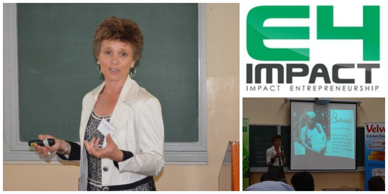 Lucy Mayer ,co-director of  Bubayi Products Ltd , winner of the  E4Impact Innovation Challenge