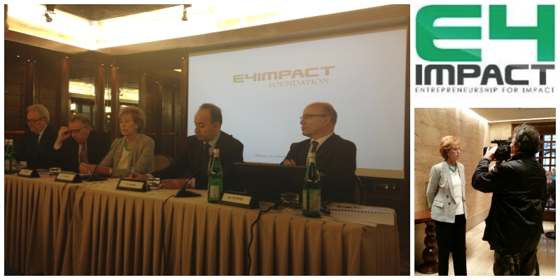 E4Impact Foundation official launch press conference in Milan on 16 September