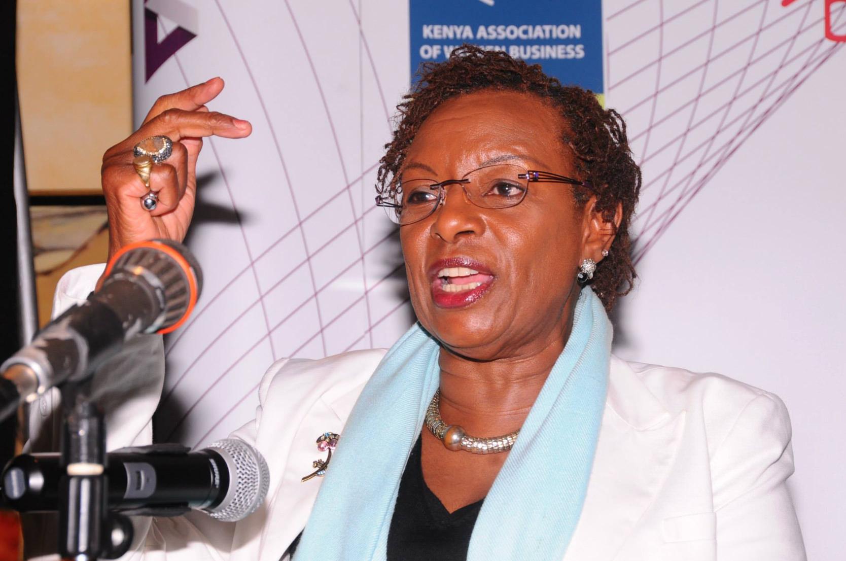 Dr. Jennifer Riria ,Group CEO of  Kenya Women Holding