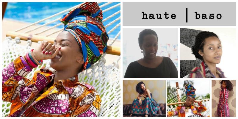 Linda Mukangoga & Candy Basomingera , founders of  haute | baso  (Rwanda)