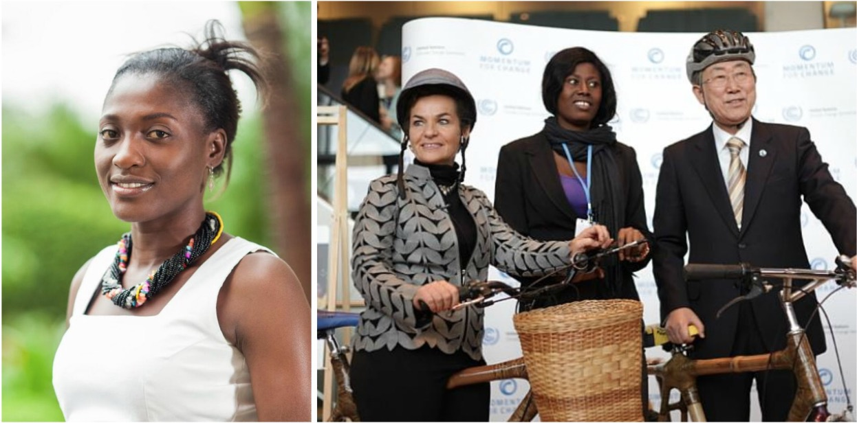Bernice Dapaah , co-founder of the  Ghana Bamboo Bike Initiativ e