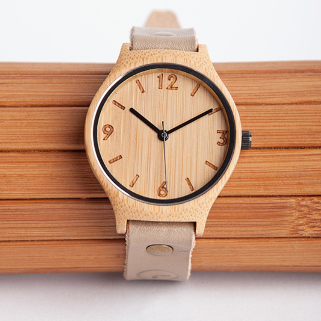 Original Natural Beige Watch | by Bamboo Revolution | founder Amy de Castro (South Africa)