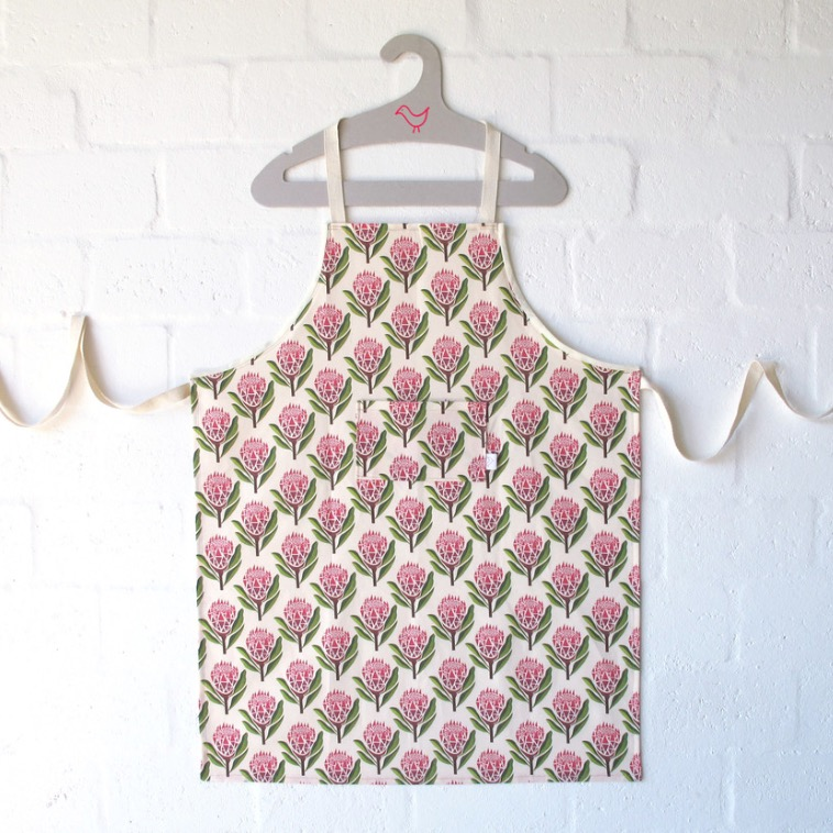Pretty Proteas Chef Apron | by Handmade By Me | founder, Sera Holland (South Africa)