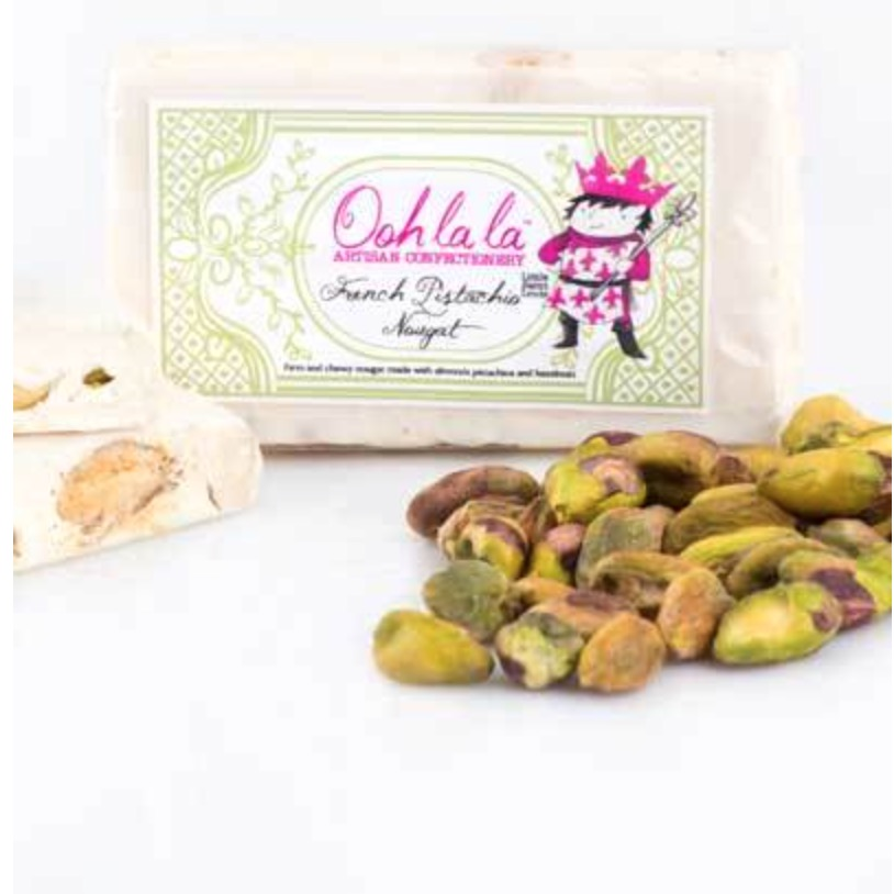 French Pistachio Nougat | by Oohlala Artisan Confectionery | founder, Karen Schneid-Lieberman(South Africa)