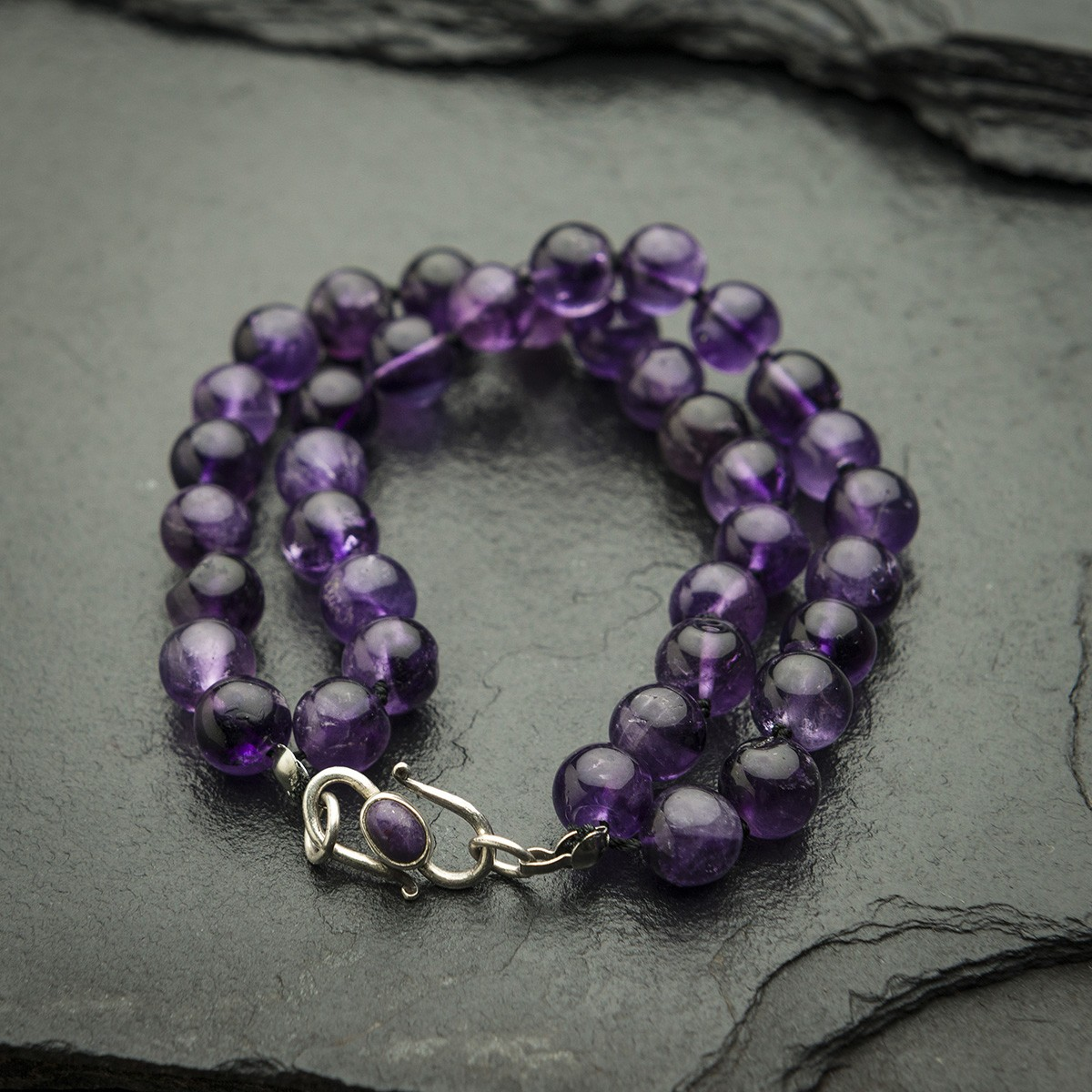 Double Stranded Amethyst Bracelet | by Gemboree | founder, Janet Pulford (South Africa)