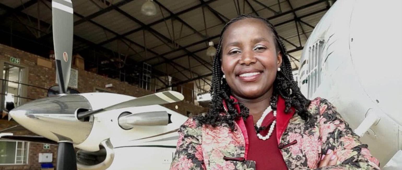 Sibongile Sambo , Founder & CEO of  SRS Aviation  (South Africa)