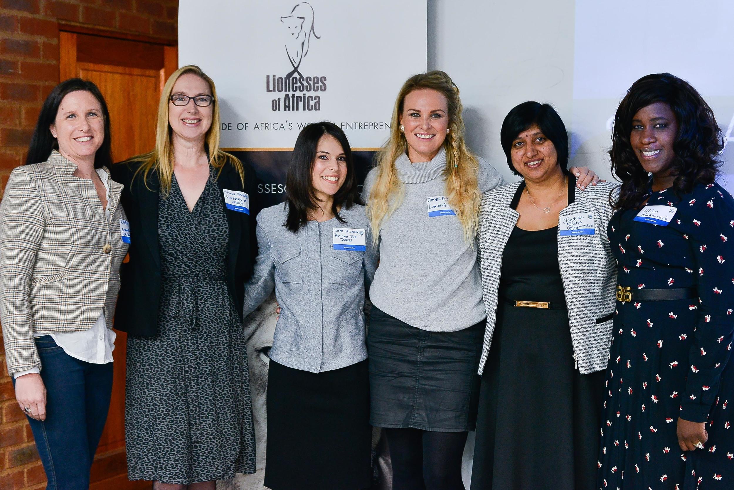 Speakers L-R: Karen Wessels, Melanie Hawken, Lori Milner, Jacqueline Rogers, Jayshree Naidoo,Lilian Muhammed