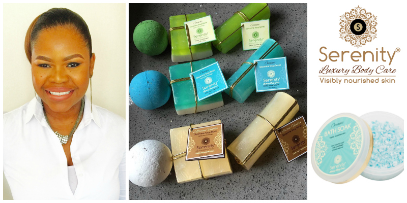 Sarinah Matema-Morgans , founder of  Serenity Luxury Body Care  (South Africa)