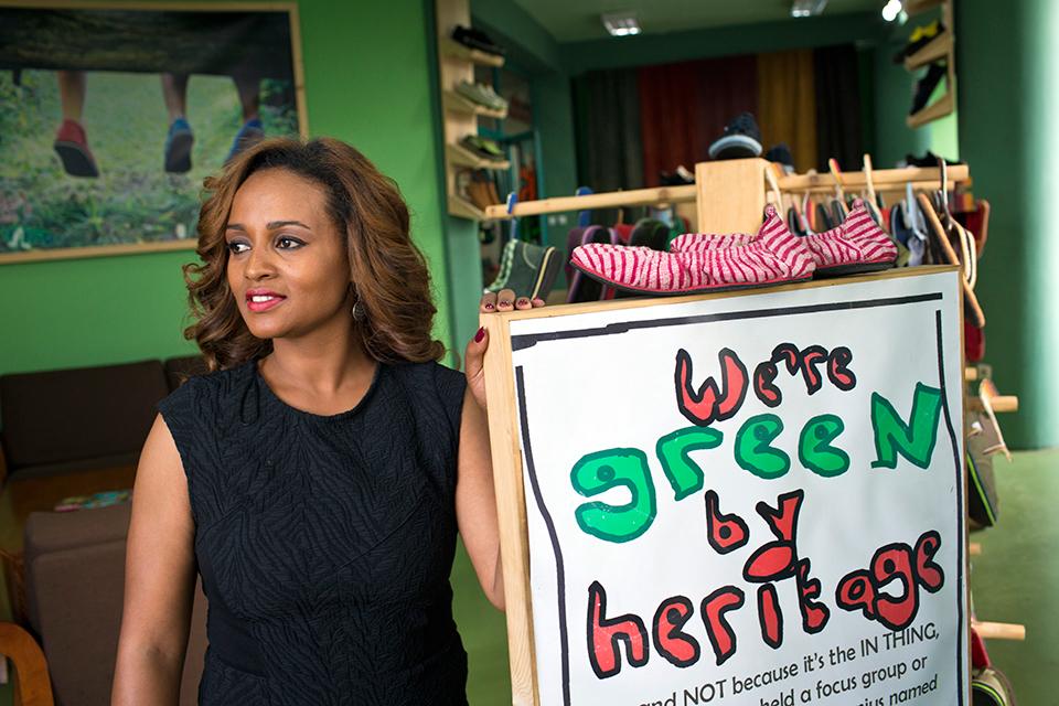Bethlehem Tilahun Alemu ,founder and Managing Director of  soleRebels (Ethiopia)