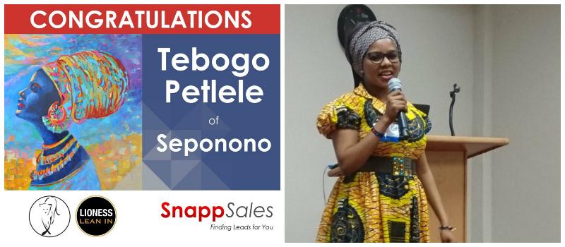 Tebogo Petlele , founder of Seponono (South Africa)