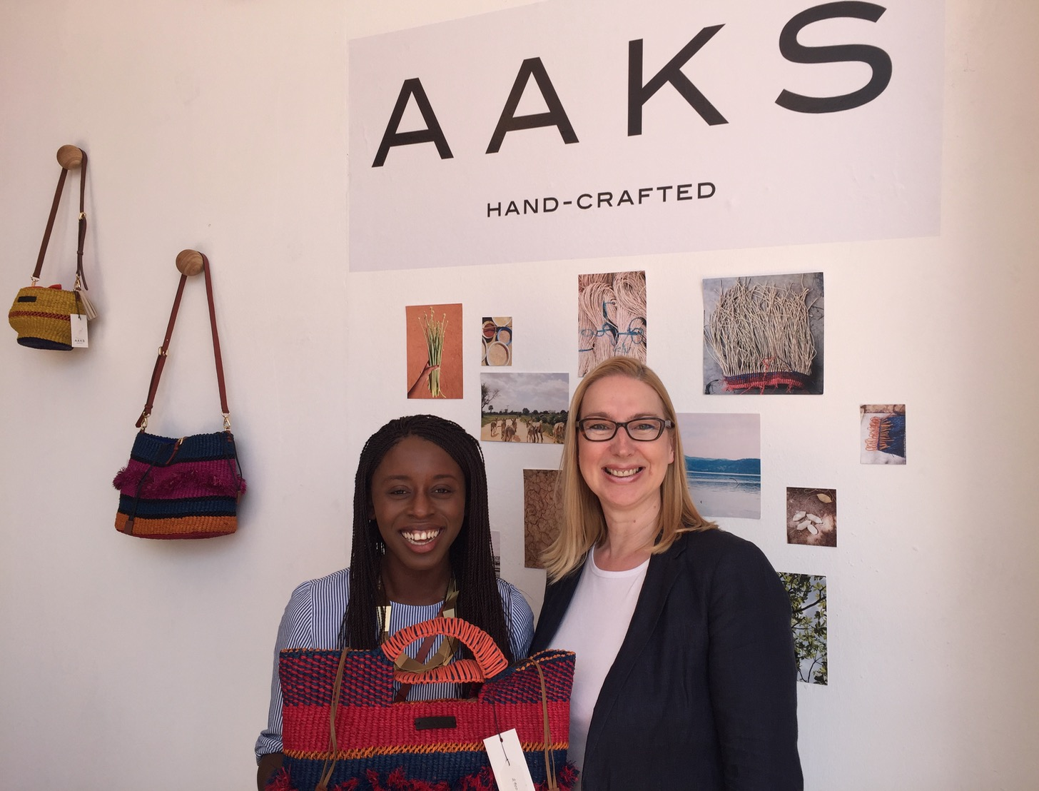 Celebrating a love of beautiful handmade, luxury woven handbags and accessories from Ghana,  AAKS  founder and ceo  Akosua Afriyie-Kumi  chats to Melanie Hawken about her first time exhibiting at the fair and her wonderful new range.