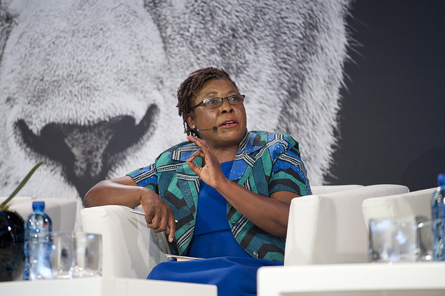 Divine Ndhlukula , speaking at the 2016 Lionesses of Africa Annual Conference