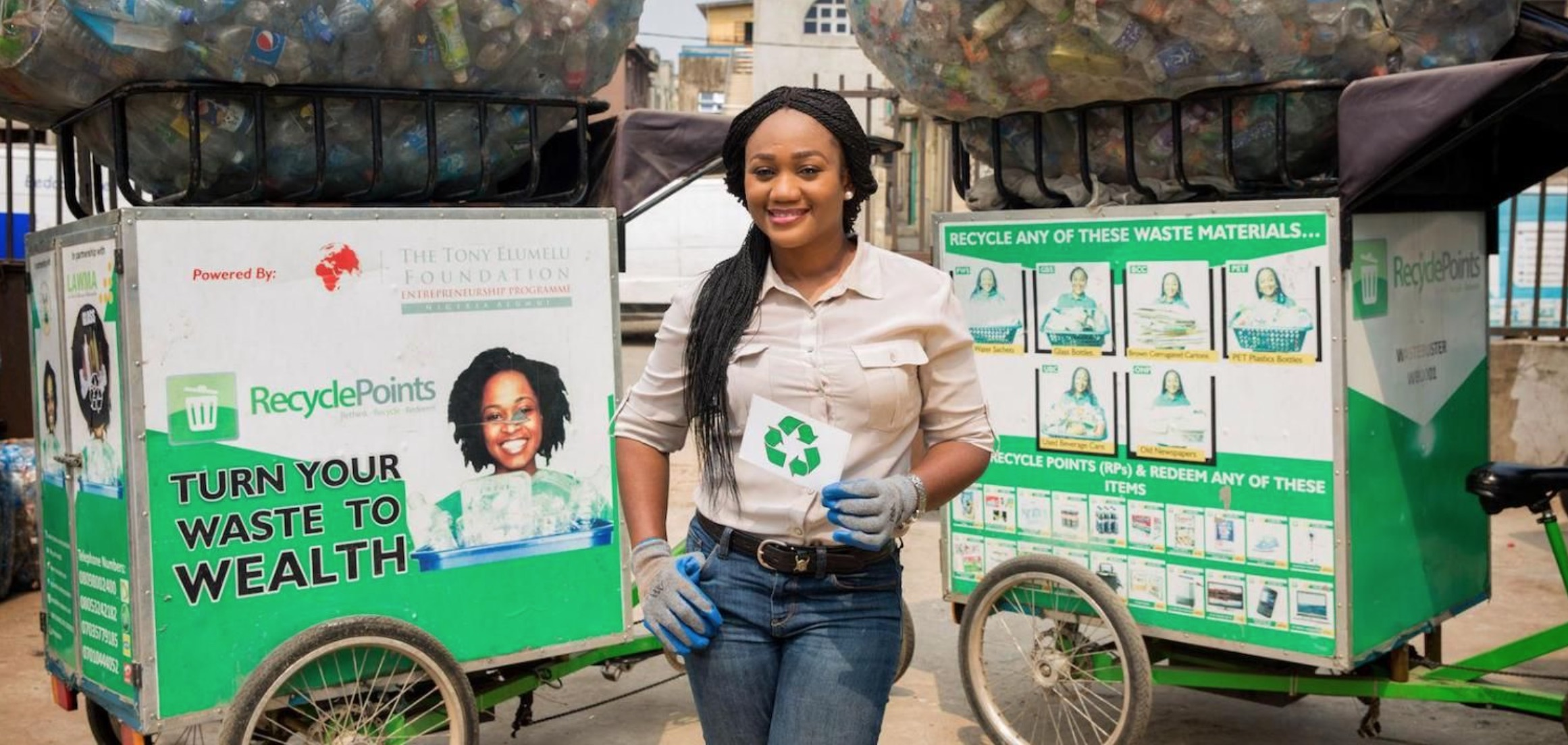 Nigeria's Chioma Ukonu , co-founder and COO of Recycle Points (Nigeria)