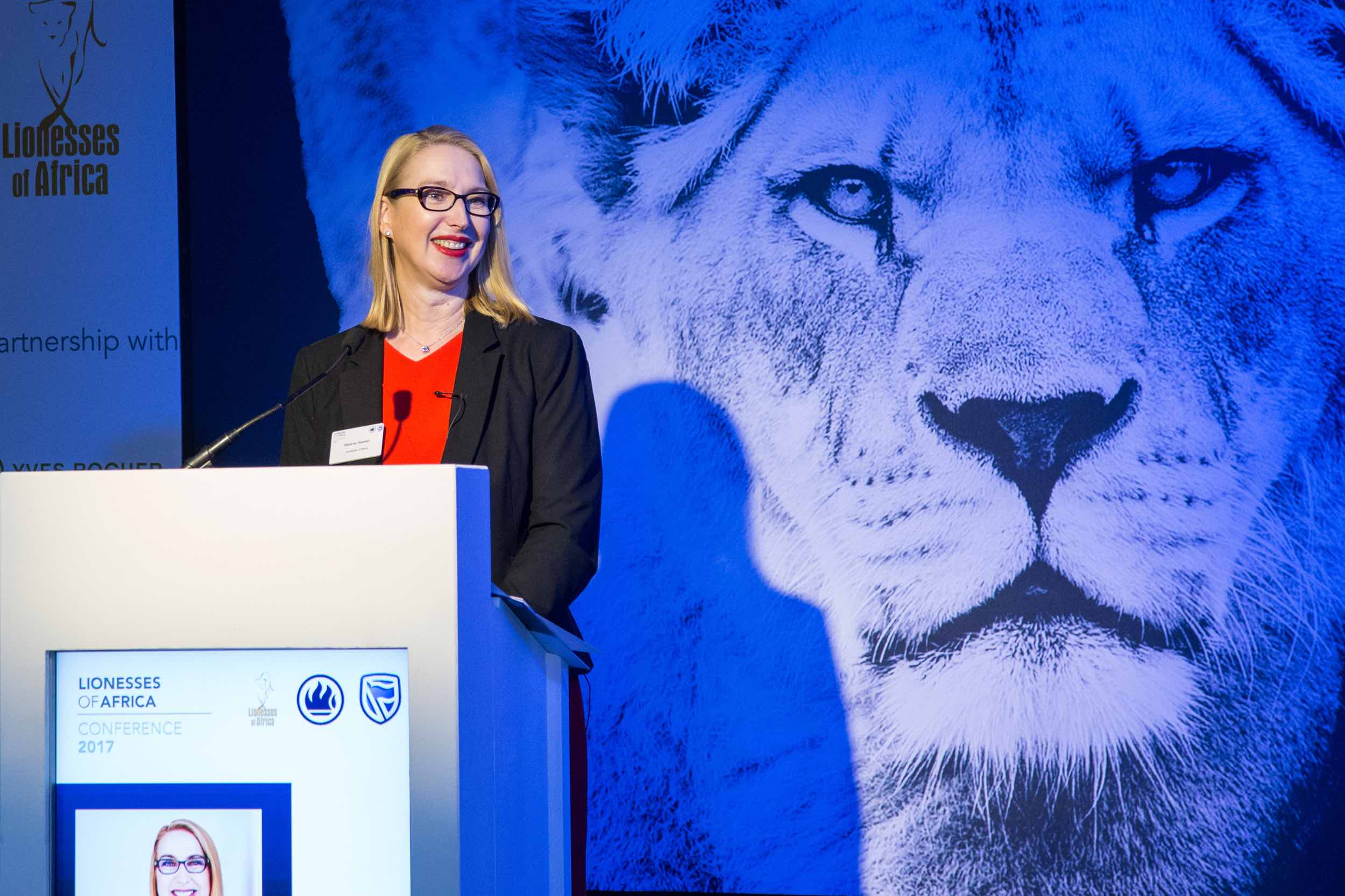 Melanie Hawken , founder & ceo of Lionesses of Africa