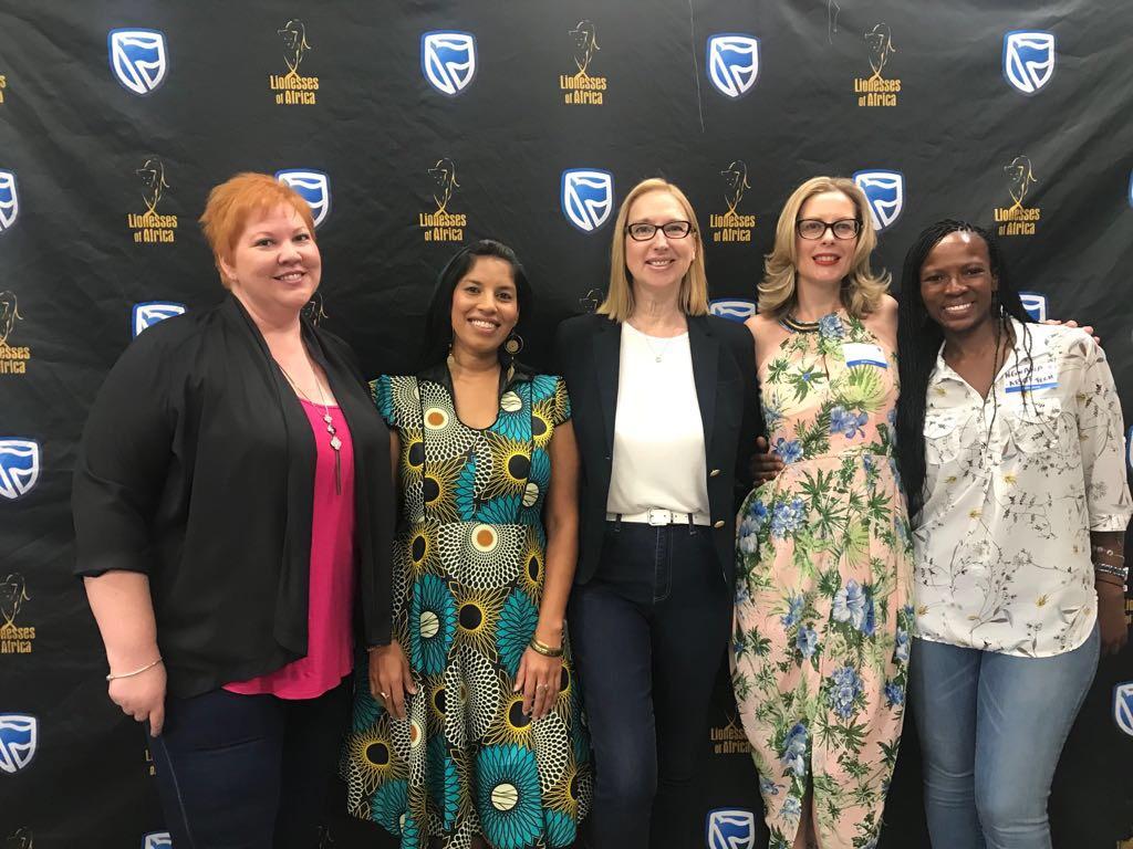 L-R: Deborah Hartung,Raksha Mahabeer, Melanie Hawken,Kathryn Main,Ngwana Matloa
