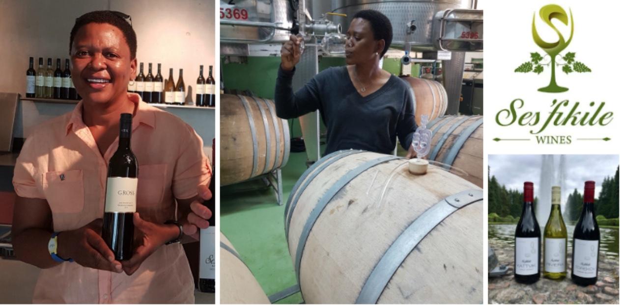 Nondumiso Pikashe , founder of  Ses'fikile Wines (South Africa)