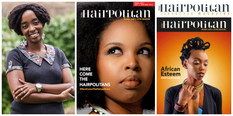 Wambui JL , founder of  Hairpolitan Lifestyle  (Kenya)