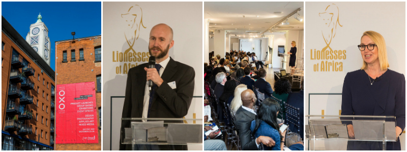 Will Thorpe,CEO of Standard Bank Wealth International and Melanie Hawken, founder of Lionesses of Africa