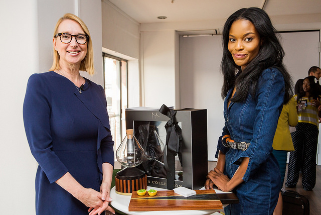 Mimi Shodeinde and Melanie Hawken at Lionesses of Africa's Start-up Night! Africa event held in London in April 2018