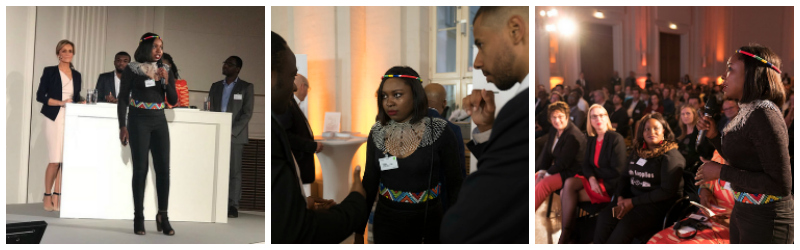 Vere Shaba pitches at Lionesses of Africa's 'Start-up Night! Africa' in Berlin (2017)