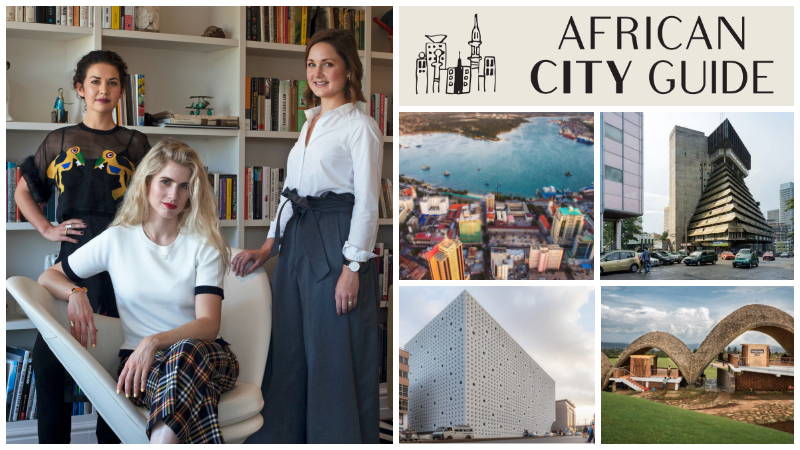 Megan Bowren, Eva Shuman, and Frances van Hasselt, co-founders of  African City Guide