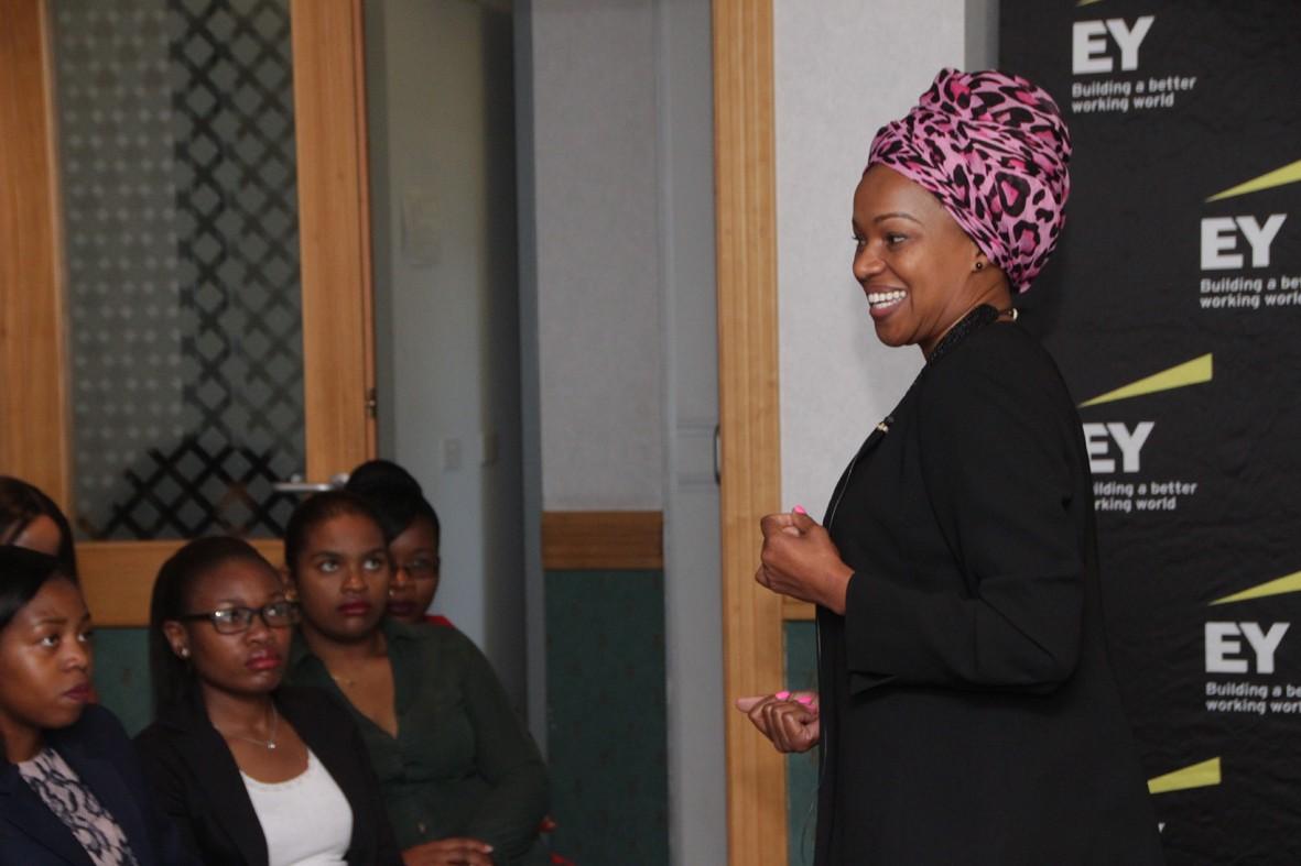 Brandbuilder speaking at EY womens day event.JPG
