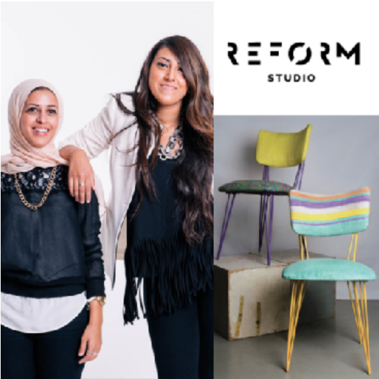 HEND RIAD & MARIAM HAZEM, founders, Reform Studio (Egypt) - Reform Studio believe that design can solve stubborn problems and they started with a major issue in Egypt: plastic waste. They have developed 'Plastex', a new eco-friendly material made by weaving discarded plastic bags. This eco-friendly material is then used to produce furniture coverings, homeware and fashion accessories.