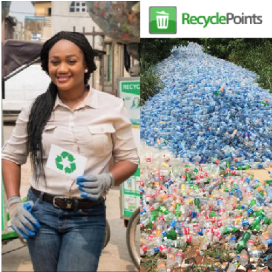 "CHIOMA UKONU, co-Founder, Recycle Points Limited (Nigeria) - RecyclePoints is a waste recycling and social benefit venture that operates an incentive-based scheme which collects recyclable materials from post consumers and in turn rewards them with ""Points"" which they can accumulate and use to redeem/shop for household items offered through its iRecycle store."