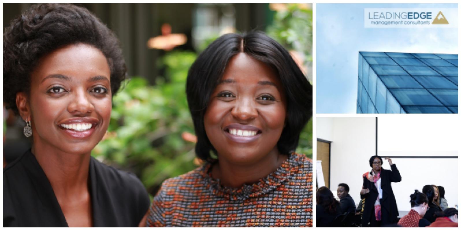 Claudette Nahum & Nangula Shejavali , founders of  Leading Edge Management Consultants  (Namibia)