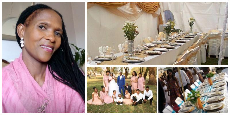 Dieketseng Mangope , founder of Grace Wedding Supplies (South Africa)