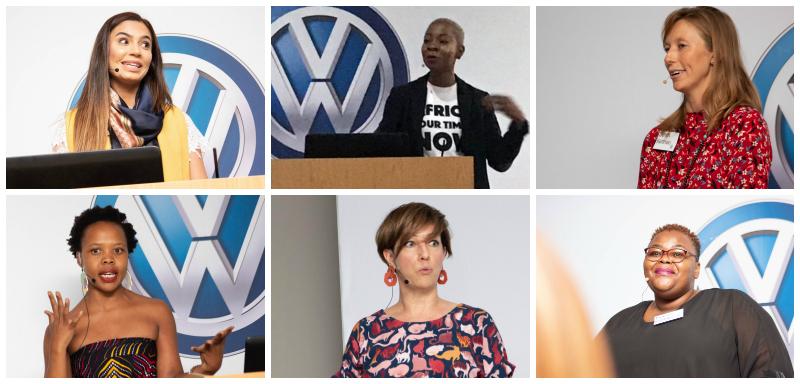 Top L-R:  Unaiza Suliman, Gugu Nkabinde, Sarah Kennan & Bottom L-R:Olaotse Disipi,  Karen Carr, Thabiso Mahlape