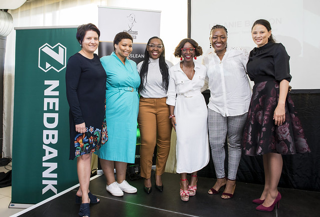 L-R: Britt du Plessis, Jamilla Jacobs, Petrina Auino-Mwandingi, Hlubi Mboya-Arnold, Juliet Madamombe, Lelanie Basson