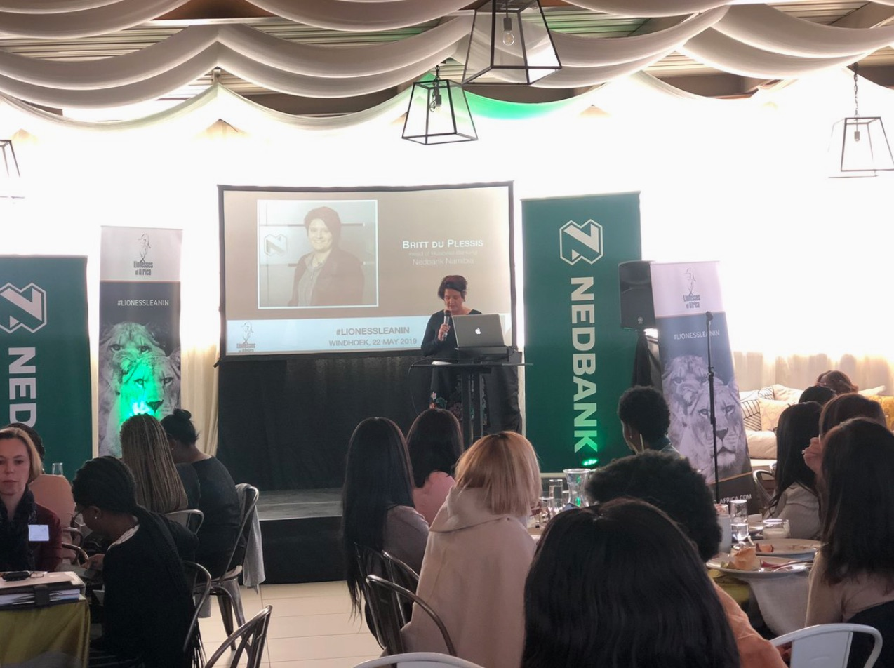 Britt du Plessis, Head of Business Banking at Nedbank Namibia welcomes guests