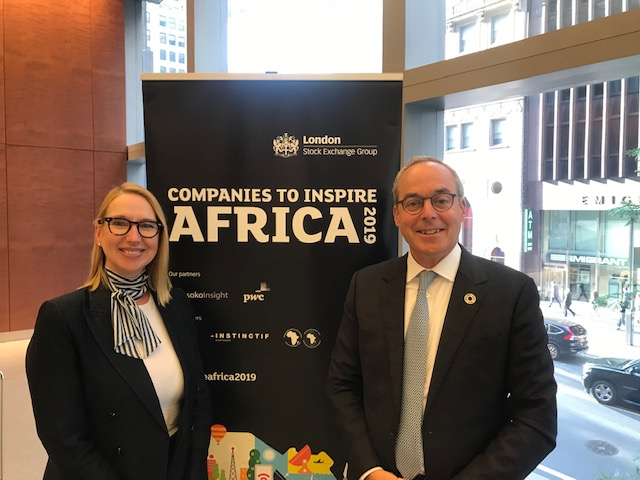 Melanie Hawken and Paul Lamontagne, Managing Director of FinDev Canada