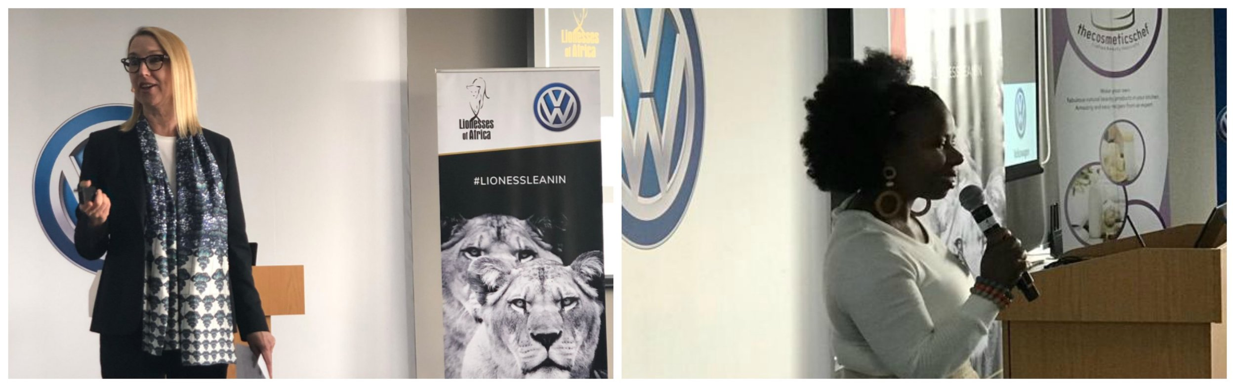 L-R: Melanie Hawken, founder and ceo, Lionesses of Africa; Nonhlanhla 'Bahatii' Sithole, performer and founder of Bahatii Productions