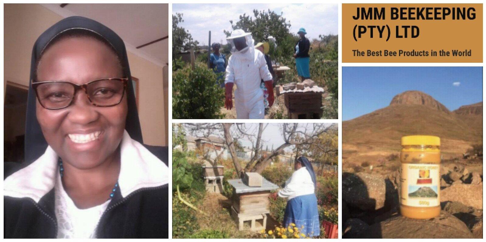Sr. Julia 'Masina Mafike , founder of  JMM Beekeeping  (Lesotho)