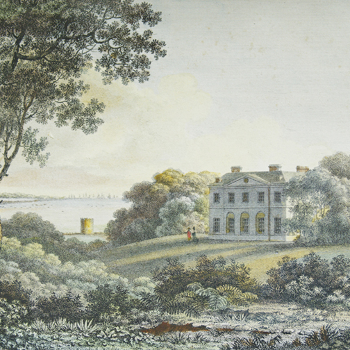 The first Cadland House   ( Henry Holland 1770s)