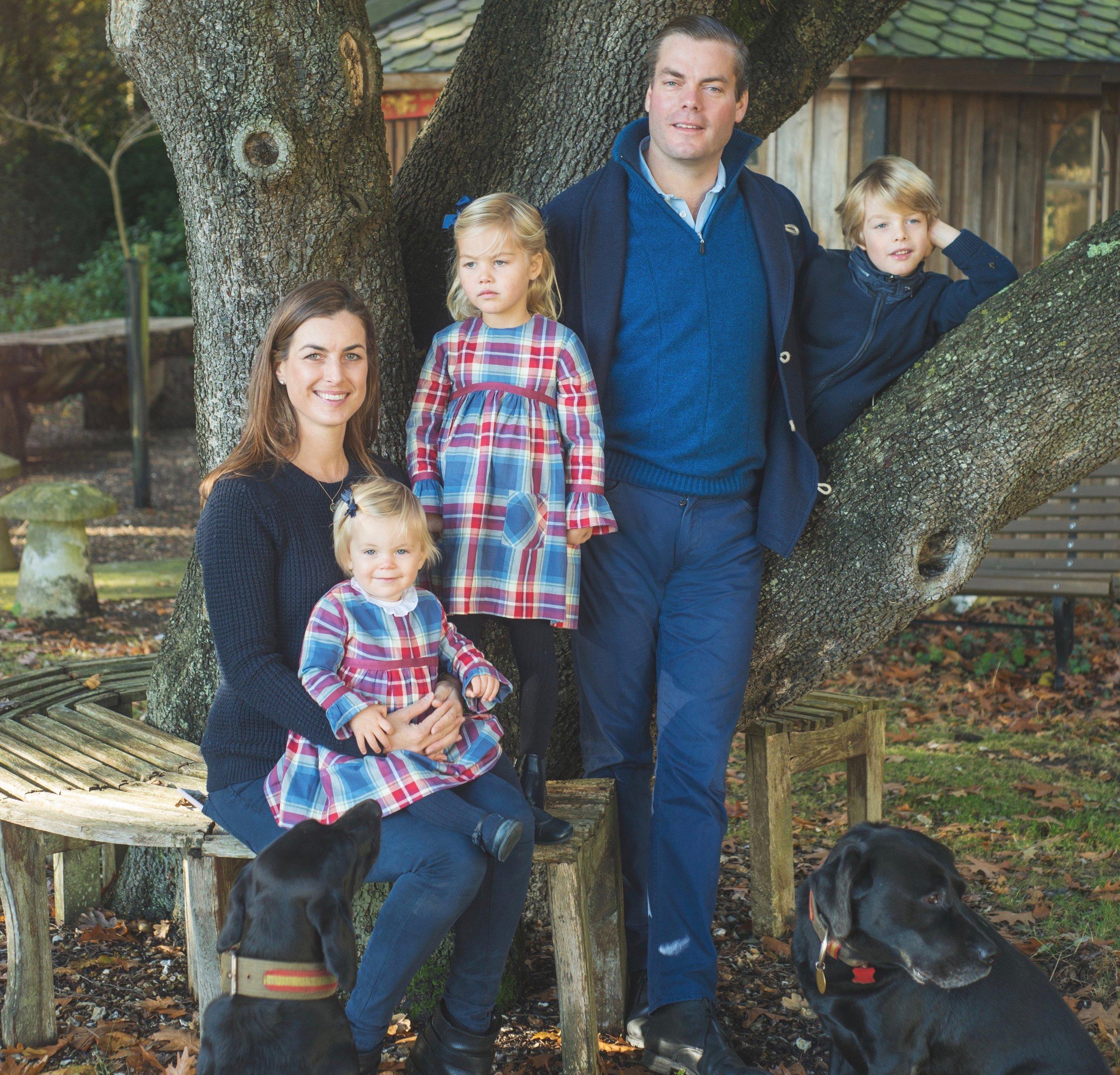 Aldred & Fiona Drummond with their children Laszlo,MELINkA and daphne