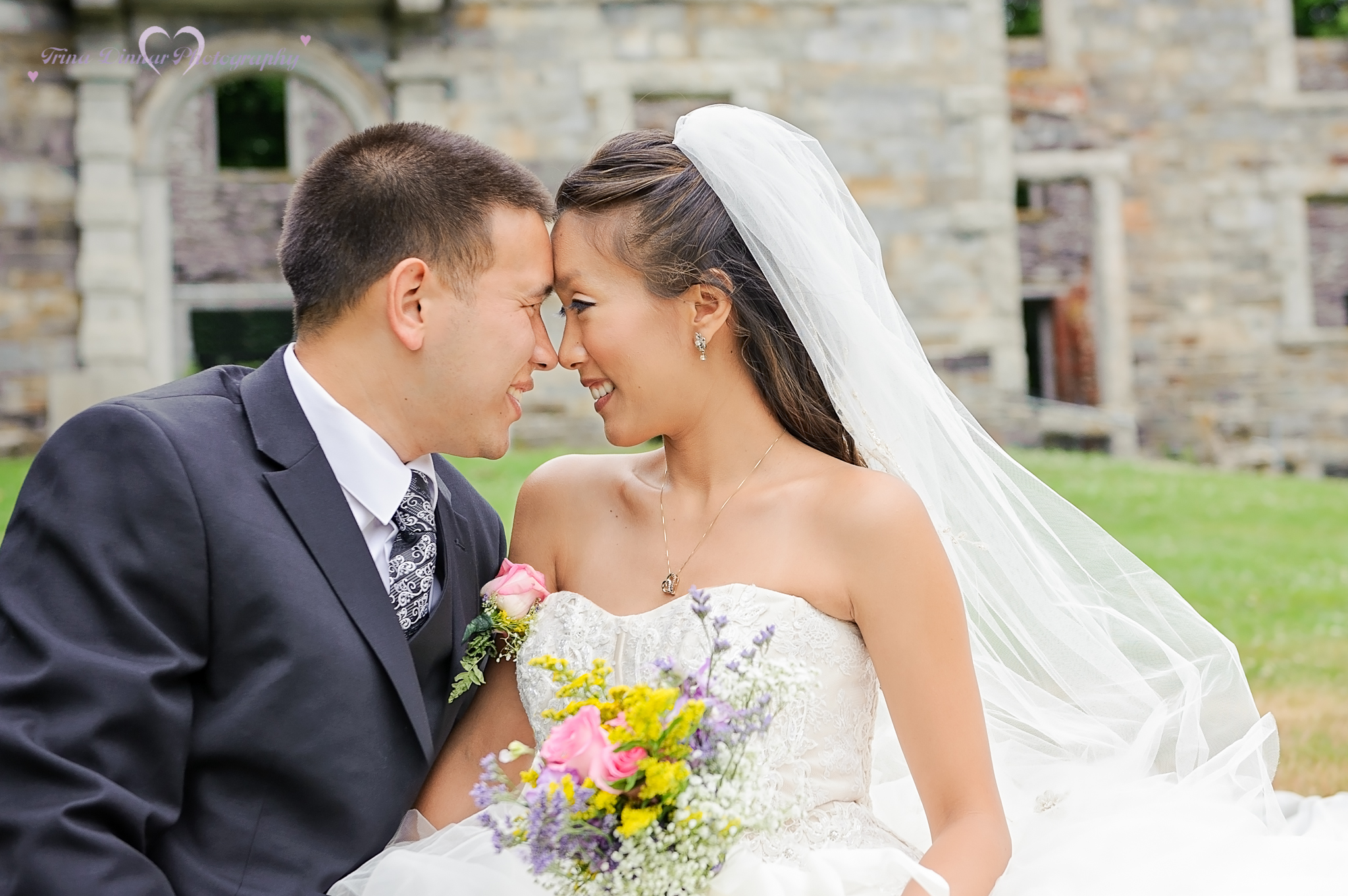 Photo of Bride and Groom taken by a Southern Maine wedding photographer