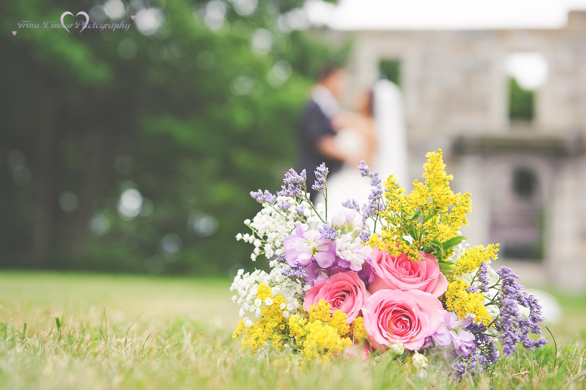 Wedding ceremony near Portland, Maine