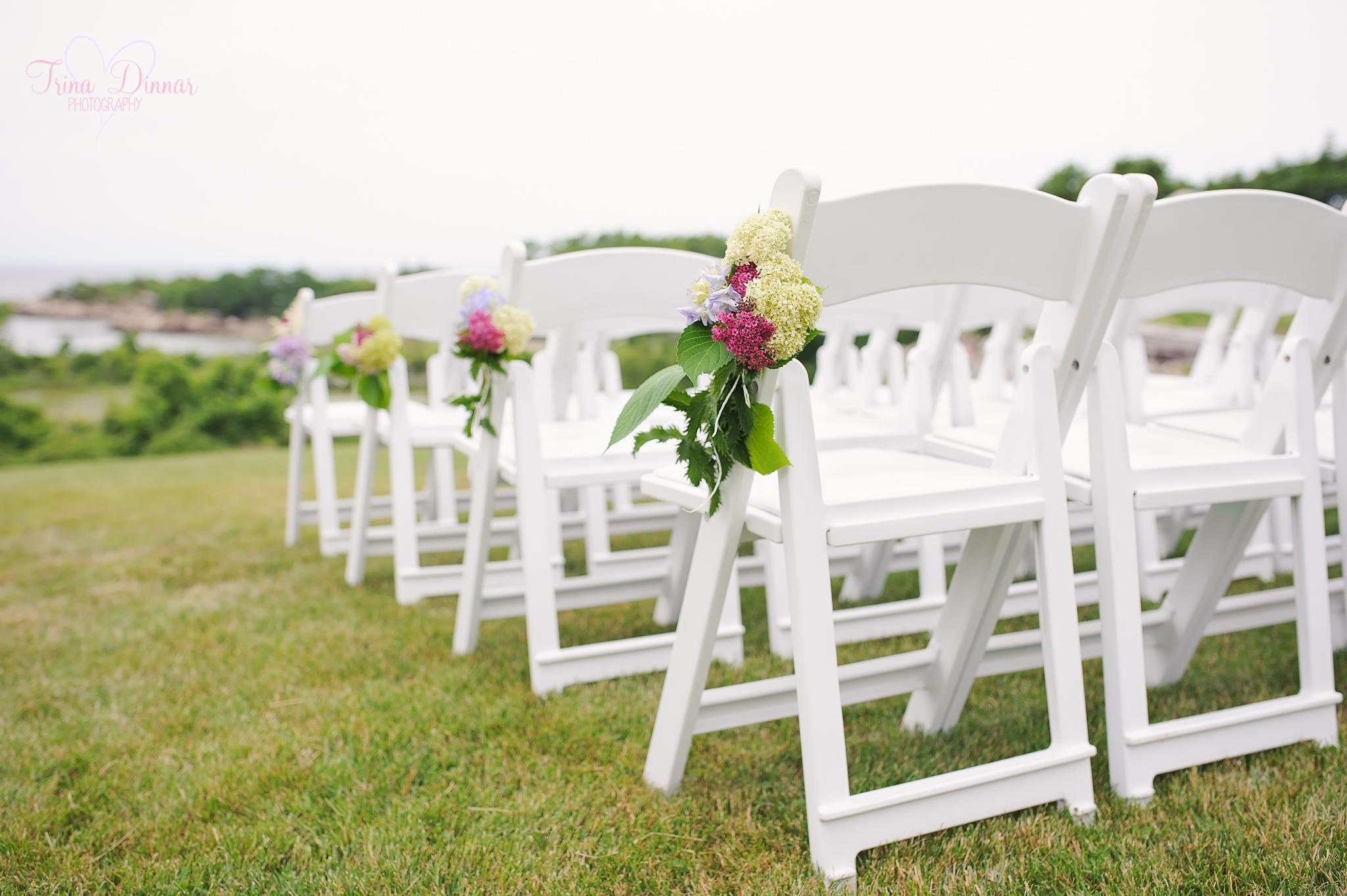 Wedding ceremony in Gloucester, Massachusetts